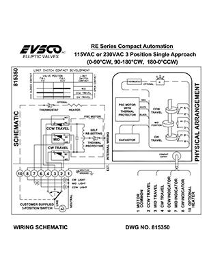 815350 115VAC or 230VAC 3-Position Single Approach