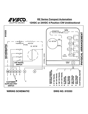 815353 12VDC or 24VDC 4 Position CW Unidirectional